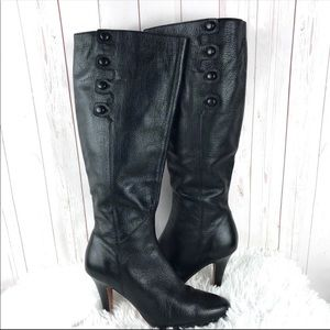 Cole Haan Black Leather Knee High Boots Size 8